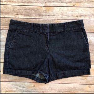 "Loft 10 The Riviera Dark Wash Trouser Shorts 4"""